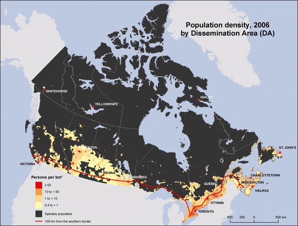 Схема колонизации Канады