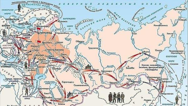 Карта гражданской войны